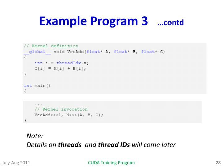 Example Program 3