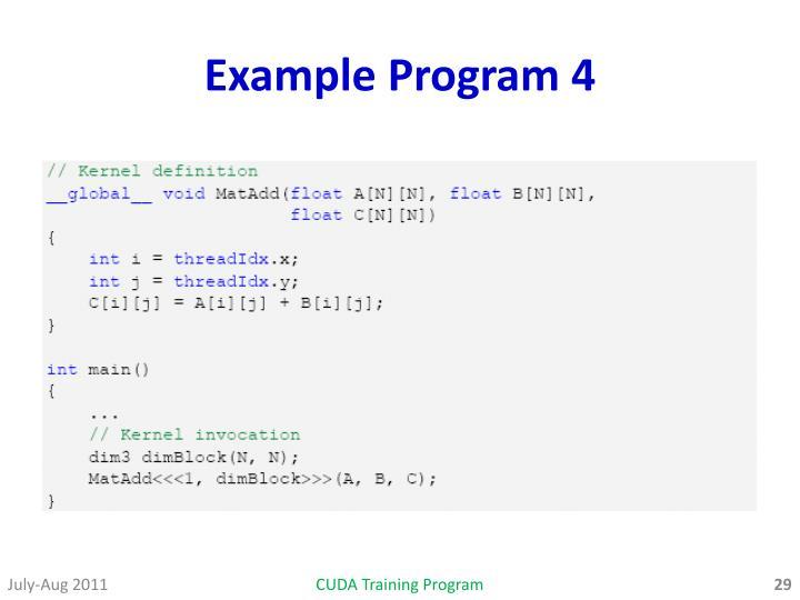 Example Program 4