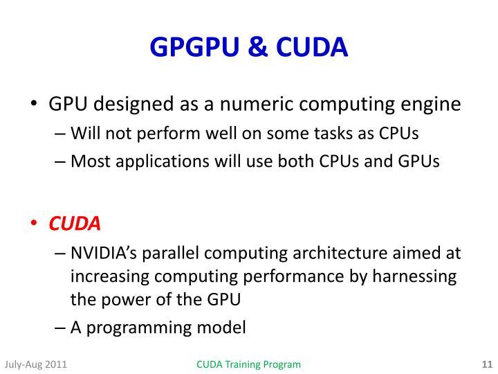 GPGPU & CUDA