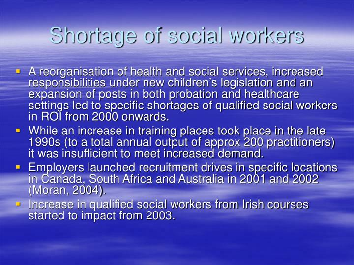 Shortage of social workers