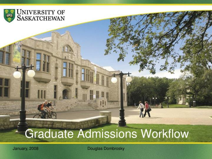 Graduate admissions workflow