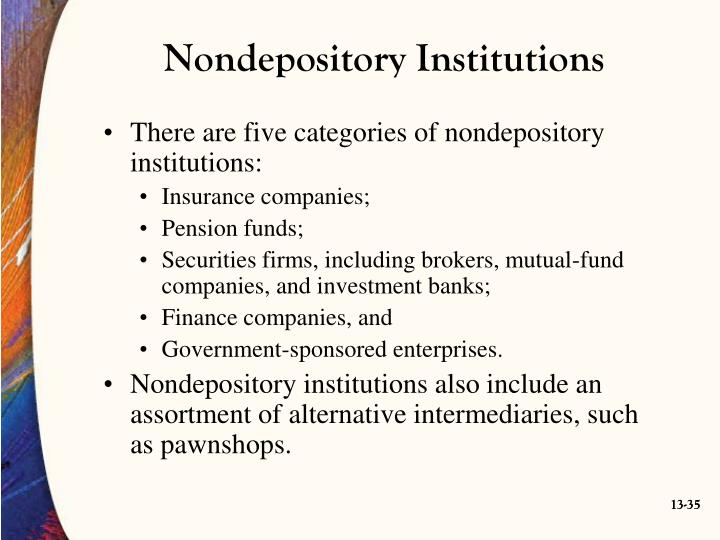 Nondepository Institutions