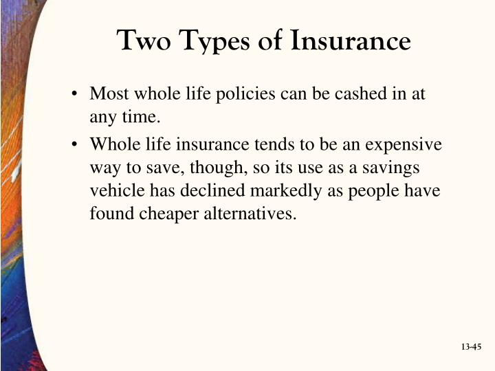 Two Types of Insurance
