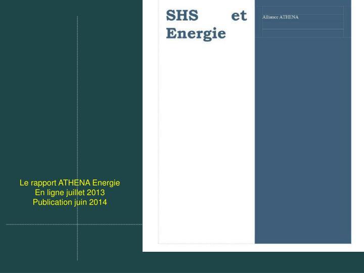 Le rapport ATHENA Energie