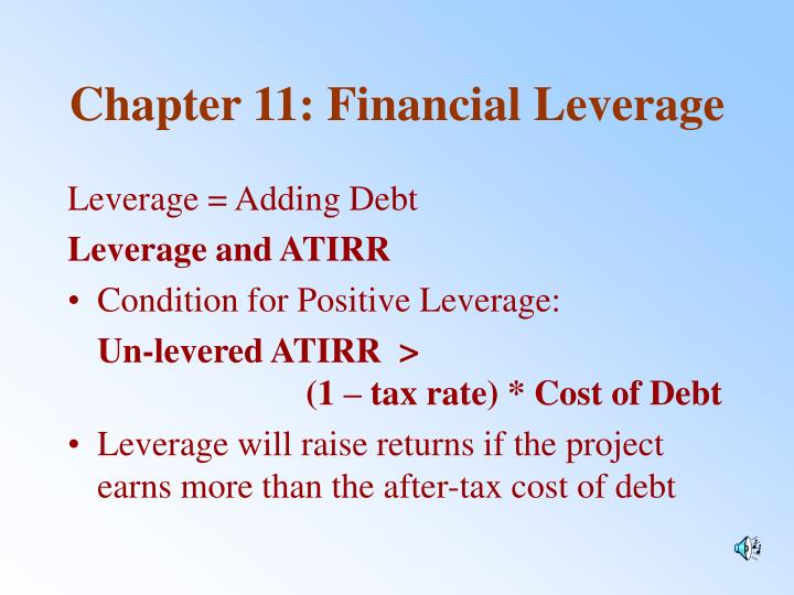 Chapter 11 financial leverage