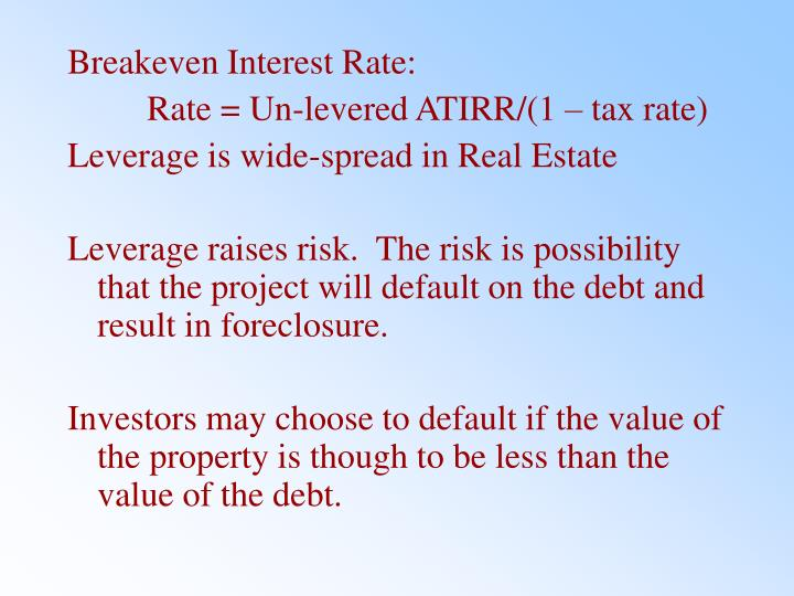 Breakeven Interest Rate: