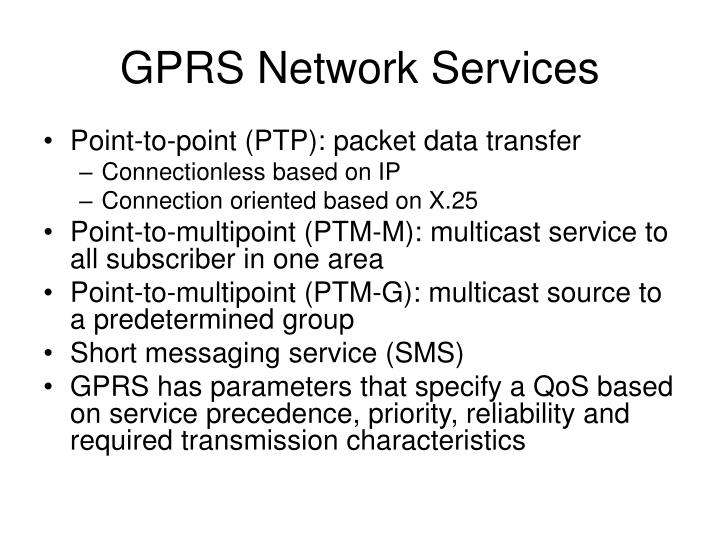 GPRS Network Services