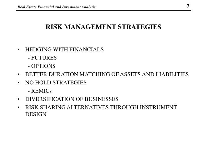 RISK MANAGEMENT STRATEGIES