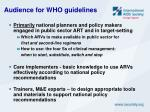 audience for who guidelines