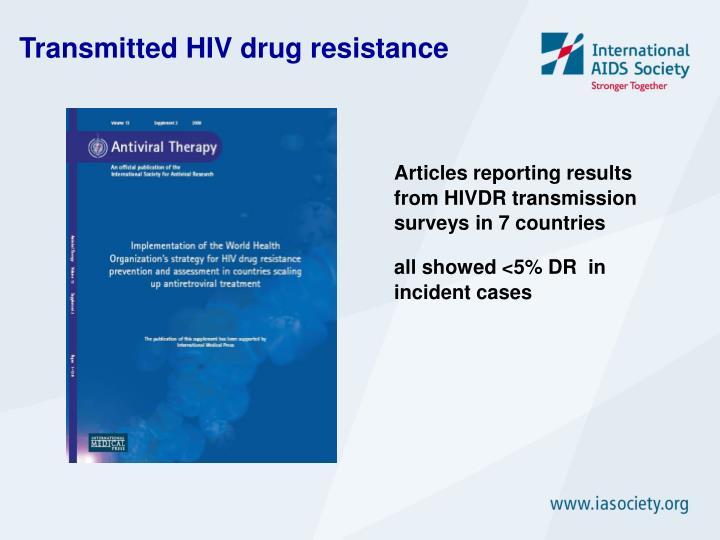 Transmitted HIV drug resistance