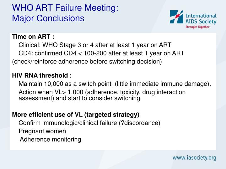 WHO ART Failure Meeting: