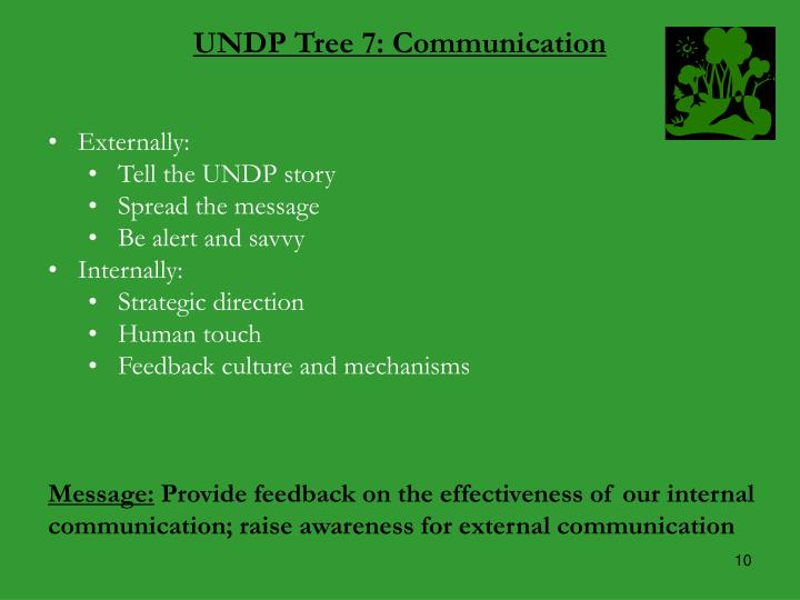 UNDP Tree 7: Communication