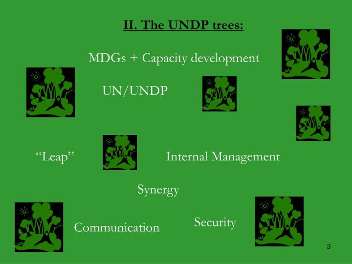 II. The UNDP trees:
