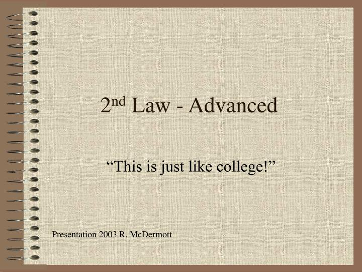 2 nd law advanced