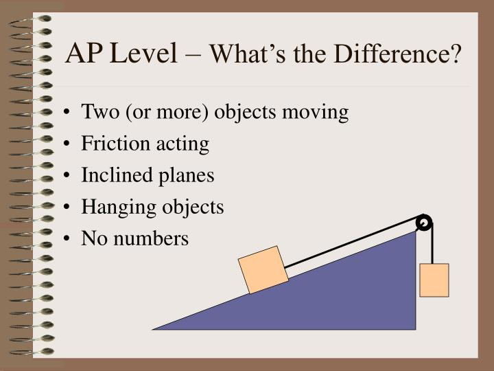 Ap level what s the difference