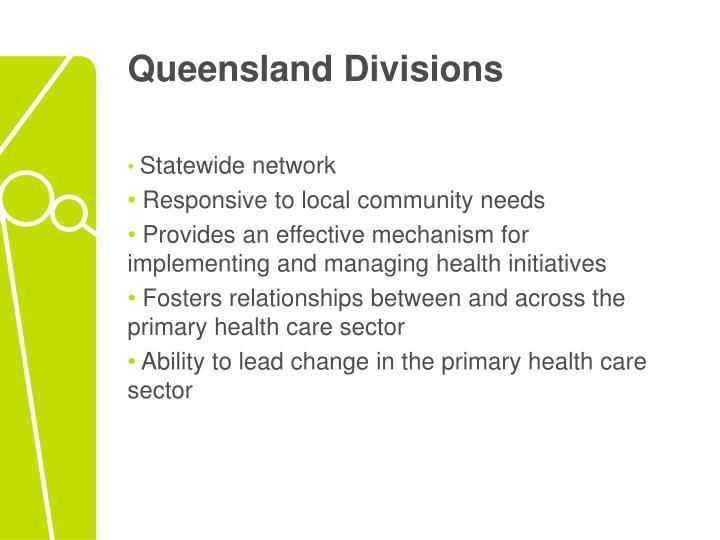 Queensland Divisions