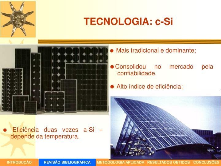 TECNOLOGIA: c-Si