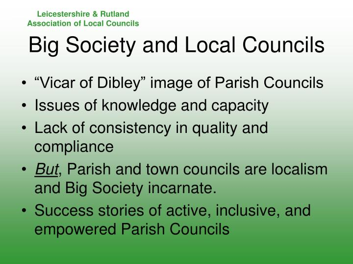 """Vicar of Dibley"" image of Parish Councils"
