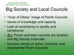 big society and local councils