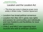 localism and the localism act