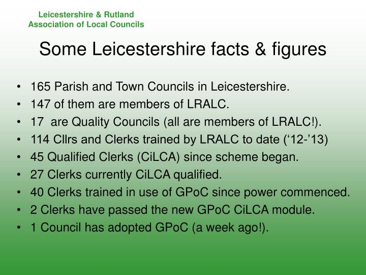 Some leicestershire facts figures