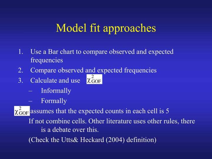 Model fit approaches