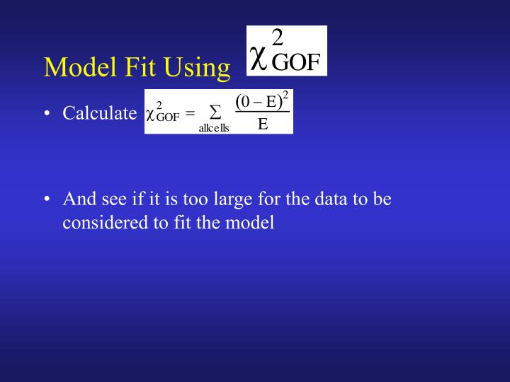 Model Fit Using