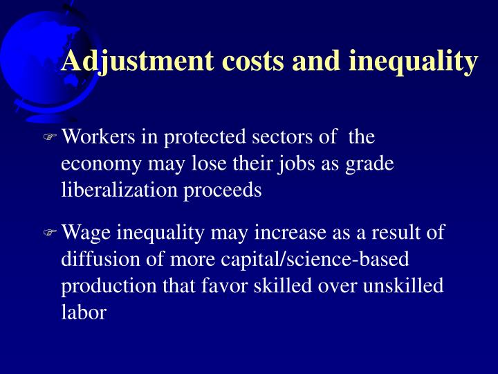 Adjustment costs and inequality