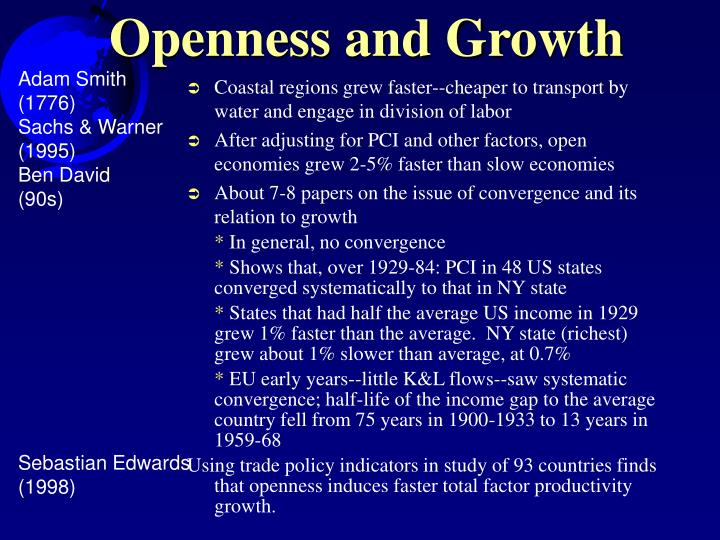 Openness and Growth
