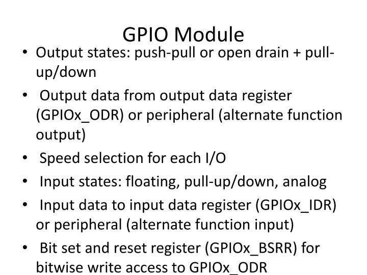GPIO Module