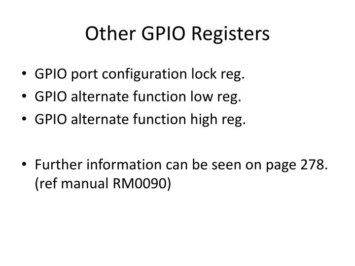 Other GPIO Registers
