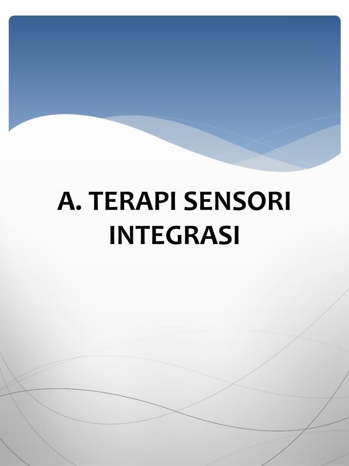 A. TERAPI SENSORI INTEGRASI