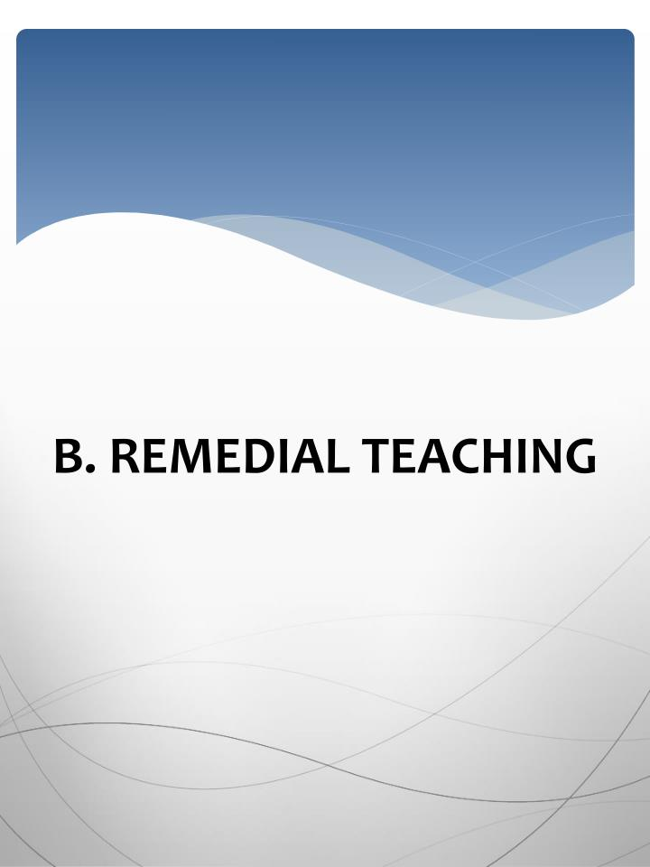 B. REMEDIAL TEACHING