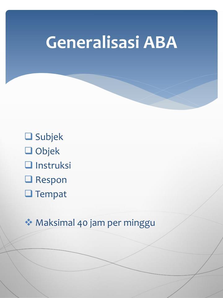 Generalisasi ABA