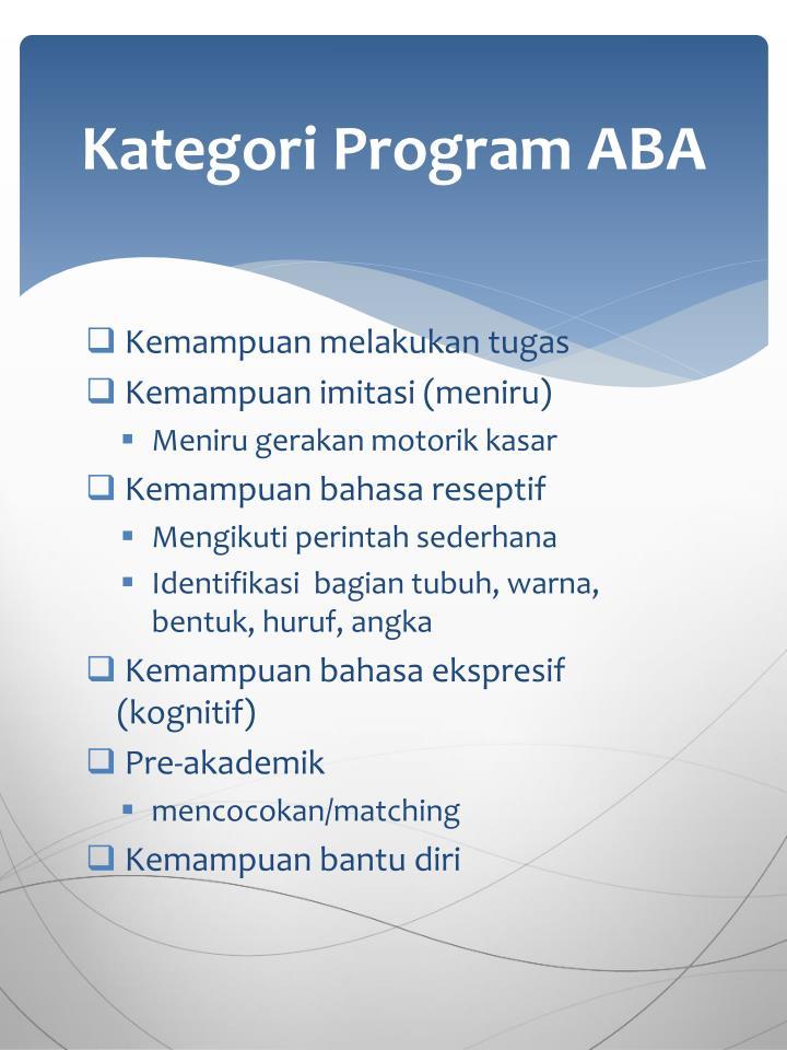 Kategori Program ABA