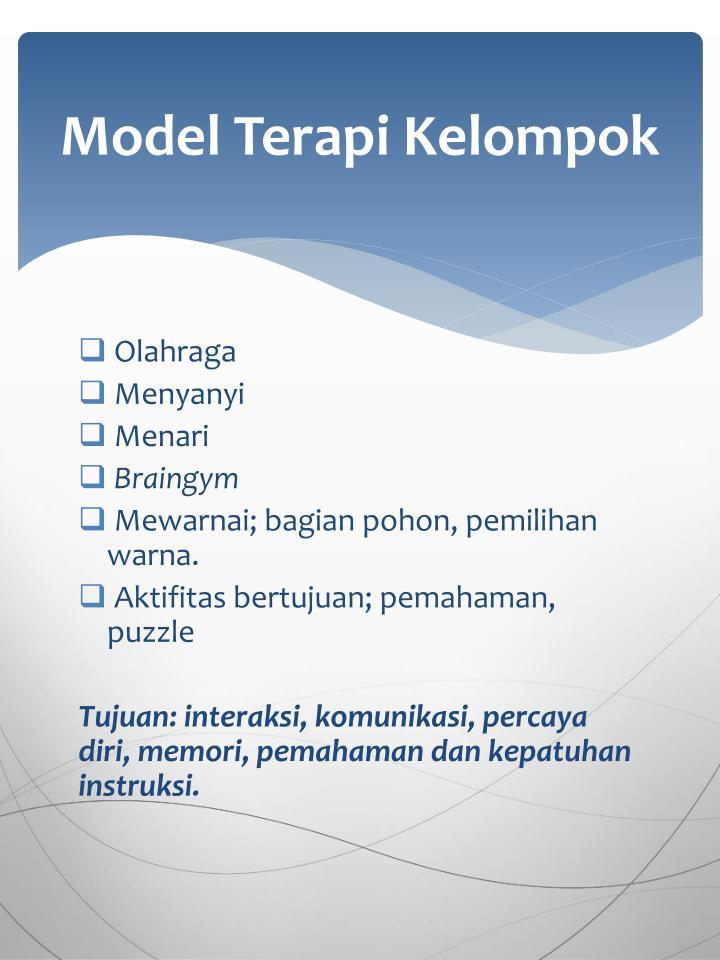 Model Terapi Kelompok