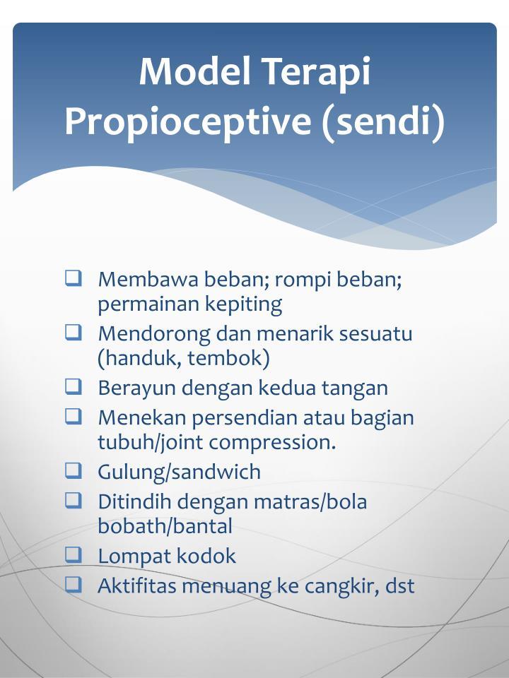 Model Terapi Propioceptive (sendi)