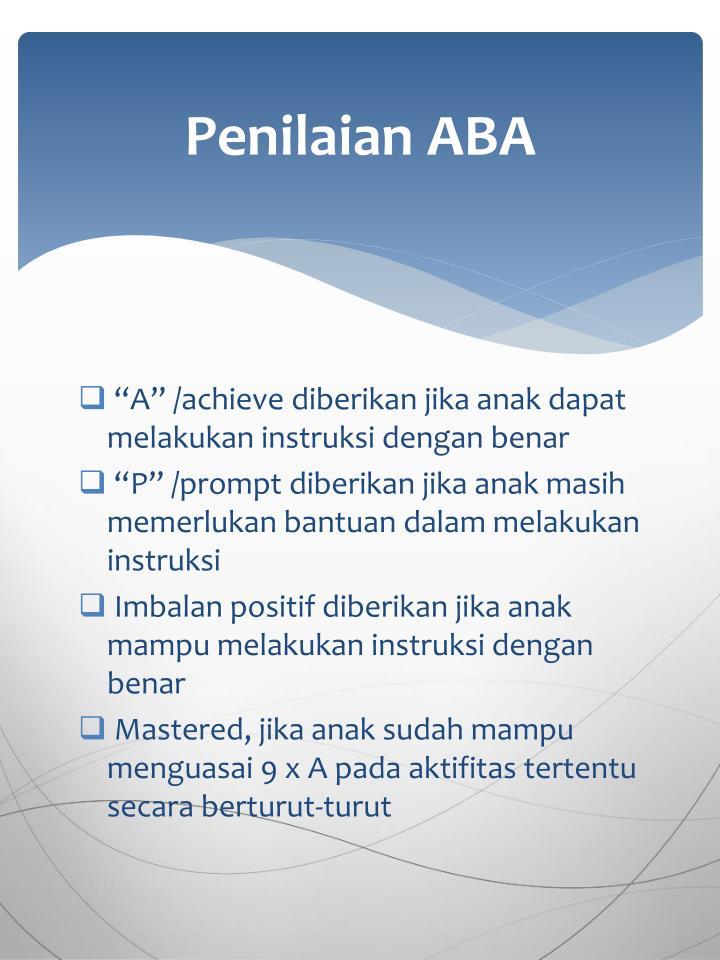 Penilaian ABA