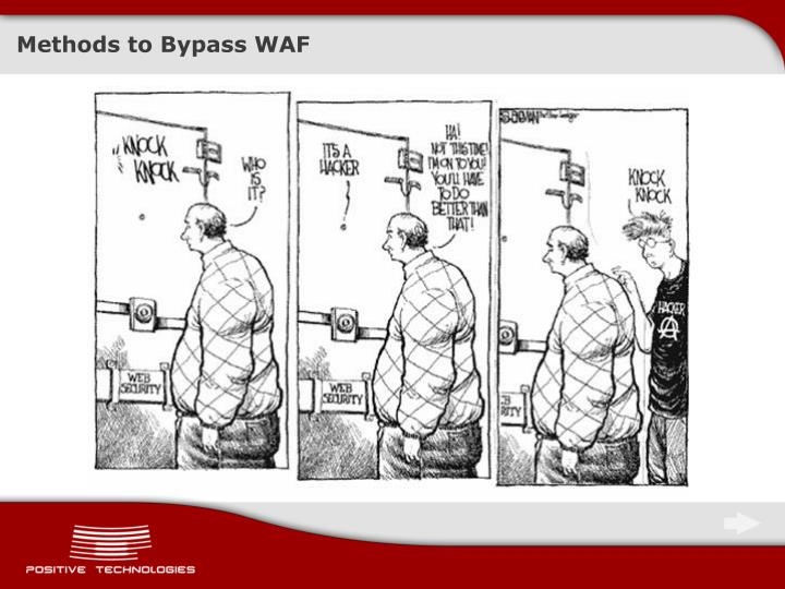 Methods to Bypass WAF