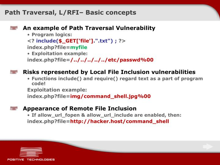 Path Traversal, L/RFI