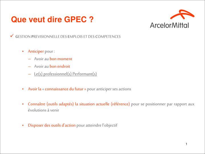 Que veut dire GPEC ?