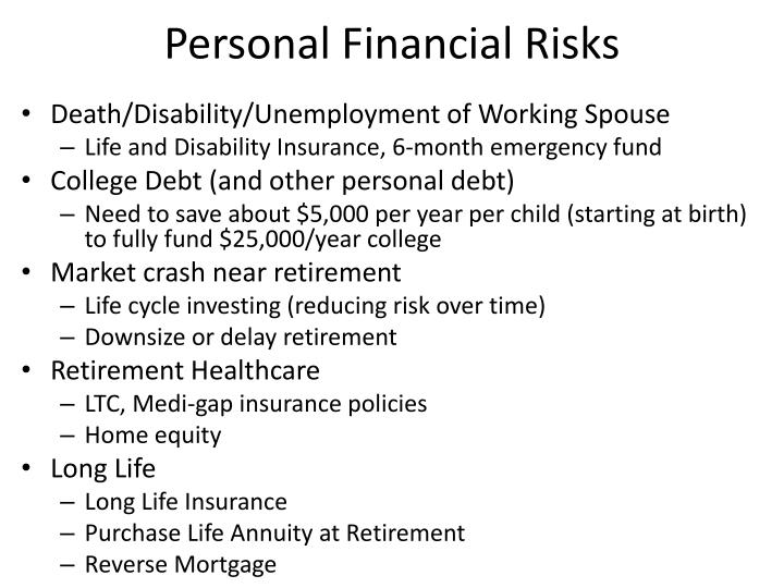 Personal Financial Risks