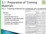 3 1 preparation of training materials d3 1 training material on proposal pre screening4