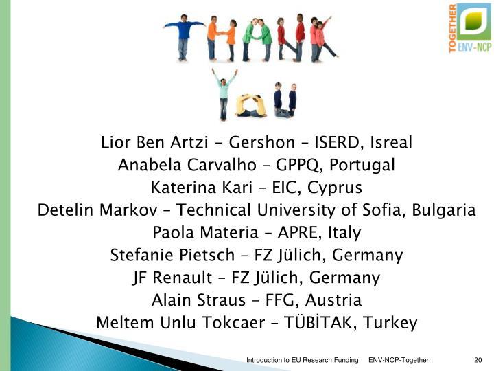 Lior Ben Artzi - Gershon – ISERD, Isreal