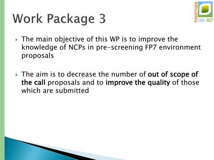 Work Package 3