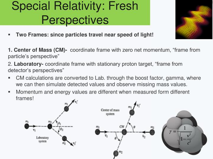 Special Relativity: Fresh Perspectives