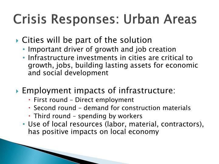 Crisis Responses: Urban Areas