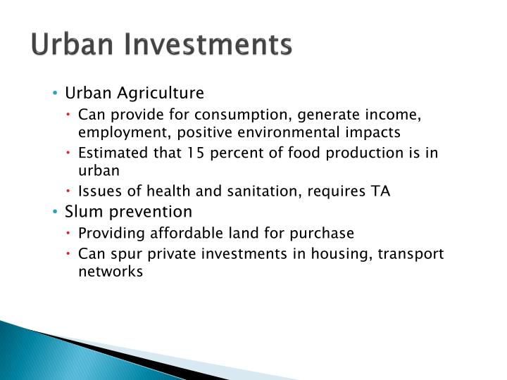 Urban Investments