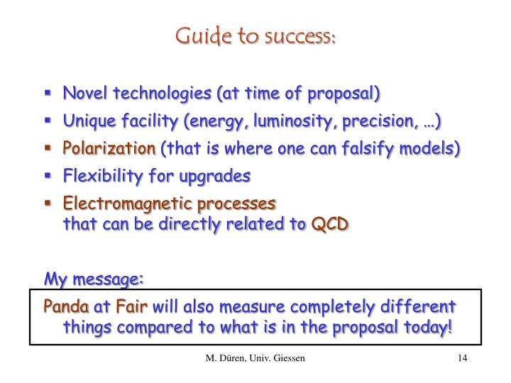 Guide to success: