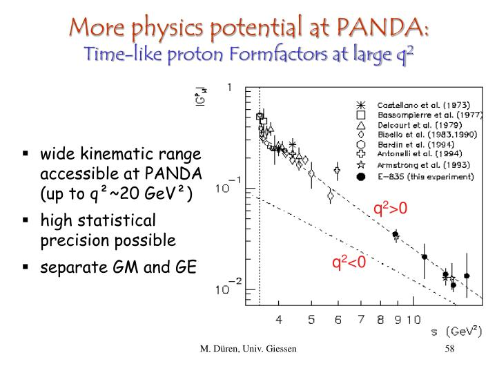 More physics potential at PANDA: